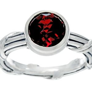 Peter Thomas Roth Sterling 1.90 cttw Garnet Ring